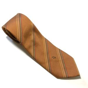Christian Dior Brown tie - Blue/Red Stripes 54Lx3W